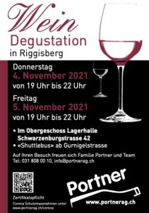 Flyer Weindegustation 4. & 5. November 2021